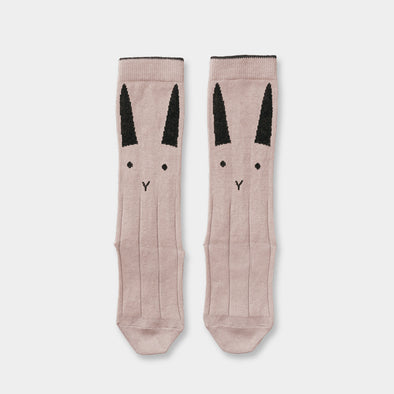 Kniesocken Rabbit rose 2er Pack