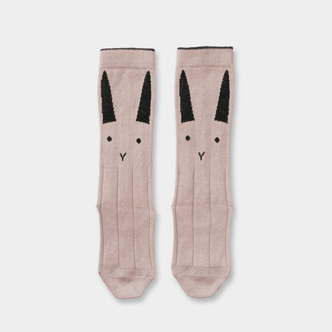Kniesocken Rabbit rose