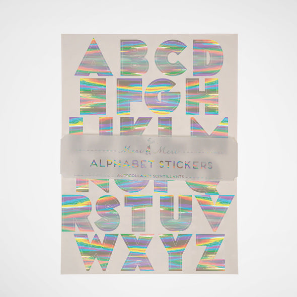 Alphabet Stickers Hologram