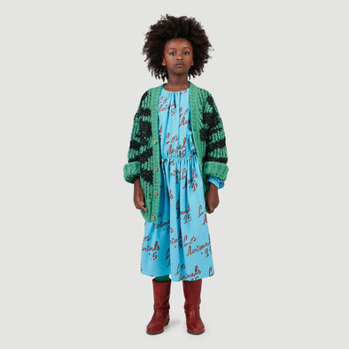 Kleid Tortoise Blue Animals