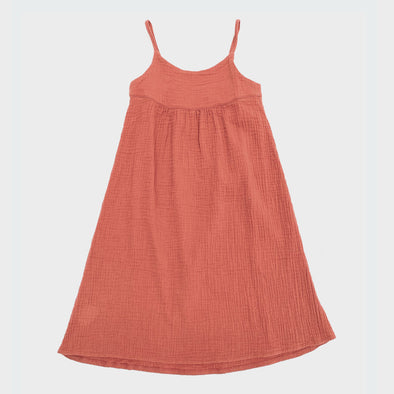 Sommerkleid Crinkle Orange