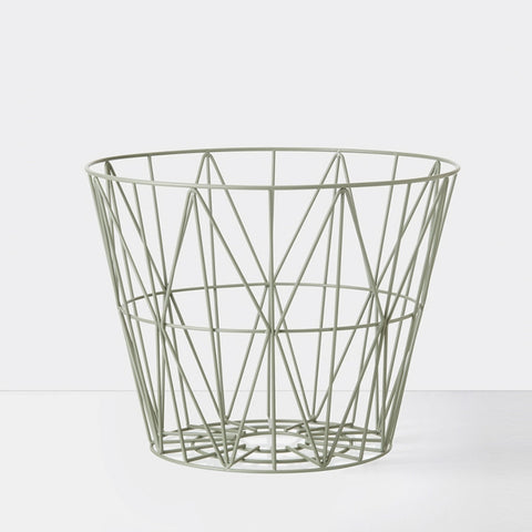 Wire Basket Dusty Green Medium