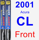 Front Wiper Blade Pack for 2001 Acura CL - Vision Saver