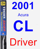 Driver Wiper Blade for 2001 Acura CL - Vision Saver