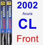 Front Wiper Blade Pack for 2002 Acura CL - Vision Saver