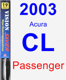 Passenger Wiper Blade for 2003 Acura CL - Vision Saver