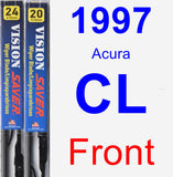 Front Wiper Blade Pack for 1997 Acura CL - Vision Saver