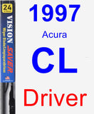 Driver Wiper Blade for 1997 Acura CL - Vision Saver