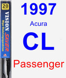 Passenger Wiper Blade for 1997 Acura CL - Vision Saver