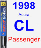Passenger Wiper Blade for 1998 Acura CL - Vision Saver