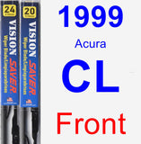 Front Wiper Blade Pack for 1999 Acura CL - Vision Saver