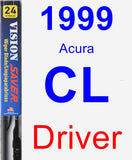 Driver Wiper Blade for 1999 Acura CL - Vision Saver