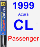 Passenger Wiper Blade for 1999 Acura CL - Vision Saver