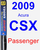Passenger Wiper Blade for 2009 Acura CSX - Vision Saver