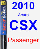 Passenger Wiper Blade for 2010 Acura CSX - Vision Saver