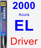 Driver Wiper Blade for 2000 Acura EL - Vision Saver