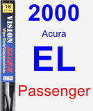 Passenger Wiper Blade for 2000 Acura EL - Vision Saver