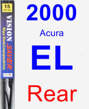 Rear Wiper Blade for 2000 Acura EL - Vision Saver