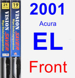 Front Wiper Blade Pack for 2001 Acura EL - Vision Saver