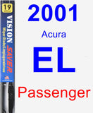 Passenger Wiper Blade for 2001 Acura EL - Vision Saver
