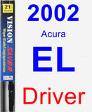 Driver Wiper Blade for 2002 Acura EL - Vision Saver