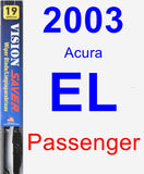 Passenger Wiper Blade for 2003 Acura EL - Vision Saver