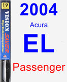 Passenger Wiper Blade for 2004 Acura EL - Vision Saver
