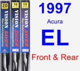 Front & Rear Wiper Blade Pack for 1997 Acura EL - Vision Saver