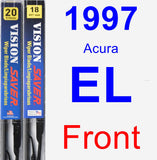 Front Wiper Blade Pack for 1997 Acura EL - Vision Saver