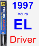 Driver Wiper Blade for 1997 Acura EL - Vision Saver