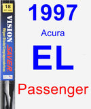 Passenger Wiper Blade for 1997 Acura EL - Vision Saver