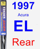 Rear Wiper Blade for 1997 Acura EL - Vision Saver