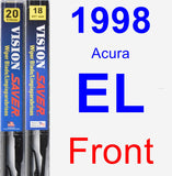 Front Wiper Blade Pack for 1998 Acura EL - Vision Saver