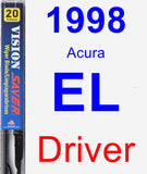 Driver Wiper Blade for 1998 Acura EL - Vision Saver