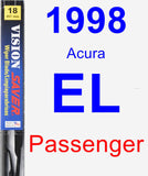 Passenger Wiper Blade for 1998 Acura EL - Vision Saver