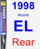 Rear Wiper Blade for 1998 Acura EL - Vision Saver