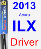 Driver Wiper Blade for 2013 Acura ILX - Vision Saver