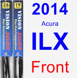 Front Wiper Blade Pack for 2014 Acura ILX - Vision Saver