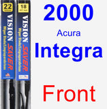 Front Wiper Blade Pack for 2000 Acura Integra - Vision Saver