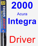 Driver Wiper Blade for 2000 Acura Integra - Vision Saver