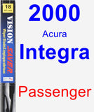 Passenger Wiper Blade for 2000 Acura Integra - Vision Saver