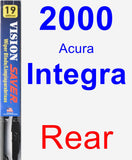 Rear Wiper Blade for 2000 Acura Integra - Vision Saver