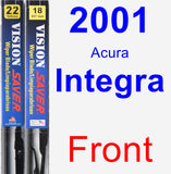 Front Wiper Blade Pack for 2001 Acura Integra - Vision Saver