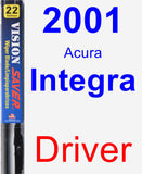 Driver Wiper Blade for 2001 Acura Integra - Vision Saver
