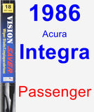 Passenger Wiper Blade for 1986 Acura Integra - Vision Saver