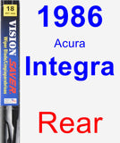 Rear Wiper Blade for 1986 Acura Integra - Vision Saver