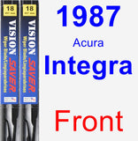Front Wiper Blade Pack for 1987 Acura Integra - Vision Saver