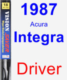 Driver Wiper Blade for 1987 Acura Integra - Vision Saver