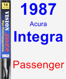 Passenger Wiper Blade for 1987 Acura Integra - Vision Saver