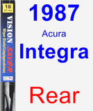 Rear Wiper Blade for 1987 Acura Integra - Vision Saver